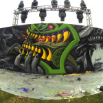 Collabo Mural with @ChezGrizzly for #Outsidelands San Francisco 2014