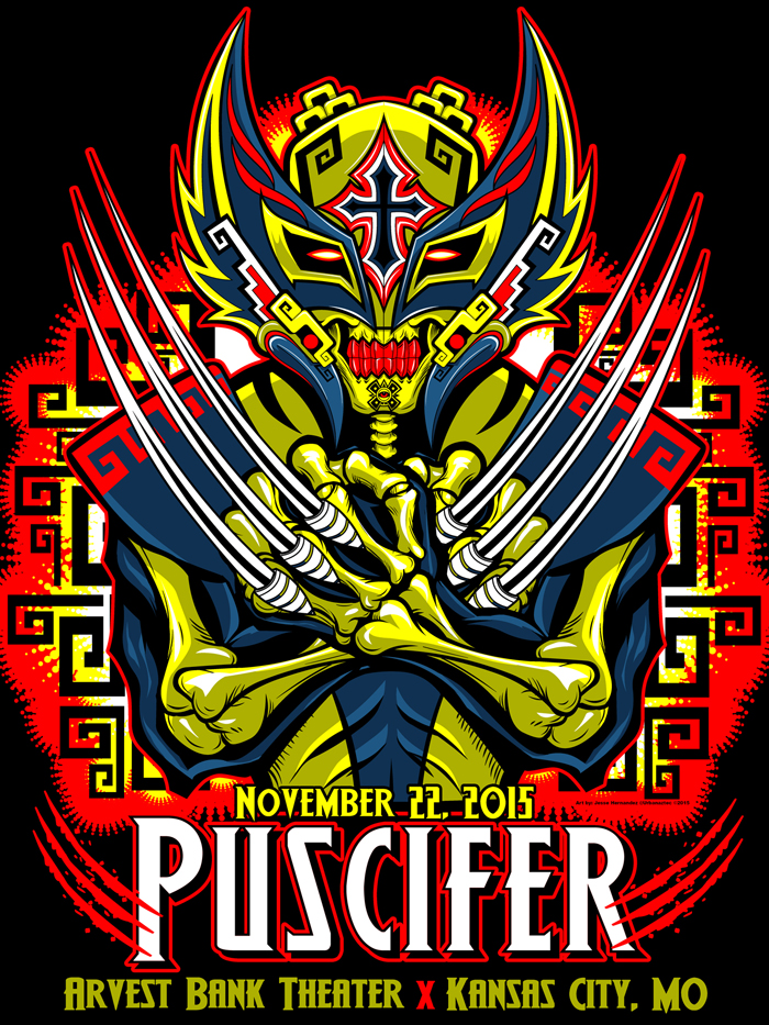 Puscifer Poster Artist Series Immortal Studios